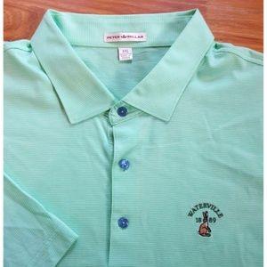 Peter Millar Mens Polo Shirt Green Cotton XXL